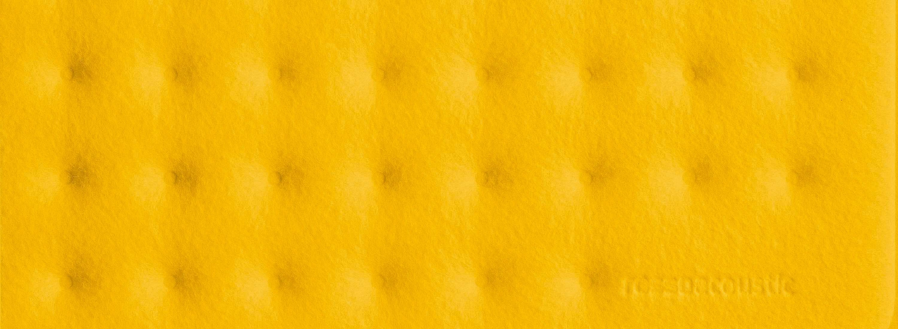 Rossoacoustic PAD Q 600 Plus, 900 x 900 x 60 mm, yellow field